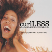 CurlLess, Less Curls - Natural Hair Care Products for coarse and kinky hair
